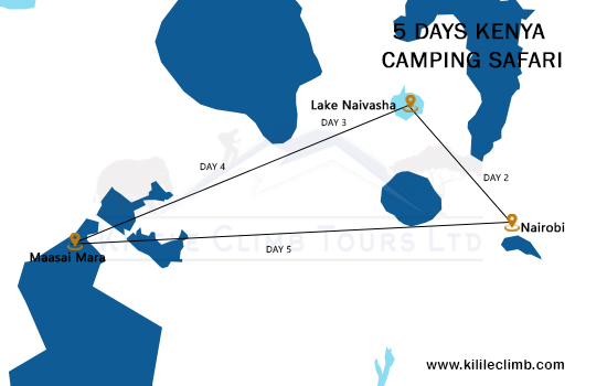 5 Days Kenya Camping Safari