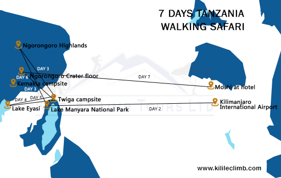 7 Days Tanzania walking Safari